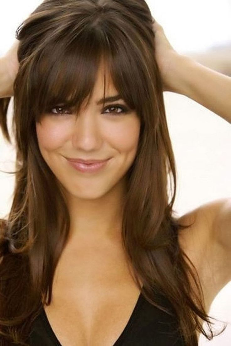 25 Best Ideas About Bangs Long Hair On Pinterest Fringe Bangs