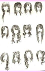 cartoon girl hair - google