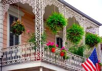 French Quarter - Cast-Iron Balcony, New Orleans, by David ...