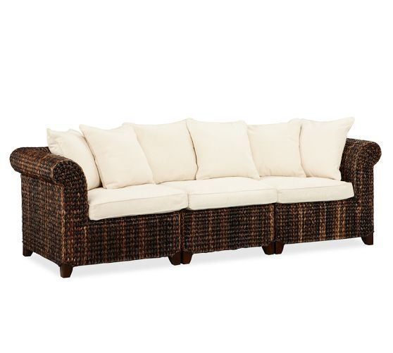 Seagrass 3Piece Sofa  Pottery Barn  Home  living