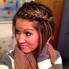 Die Besten 25 Kurze Haare Flechten Ideen Auf Pinterest