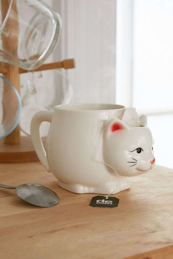Kitty Tea Mug I love cats On the side and Urban outfitters