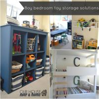 Boy bedroom toy storage solutions | Bold colors, Toys and ...