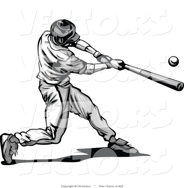 How To Draw A Baseball Player Hitting The Ball