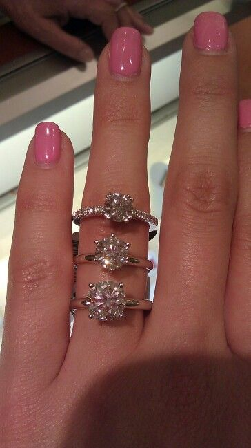 1 1 5 And 2 Carat Round Diamond Solitaire Engagement Rings Happily Ever After Pinterest