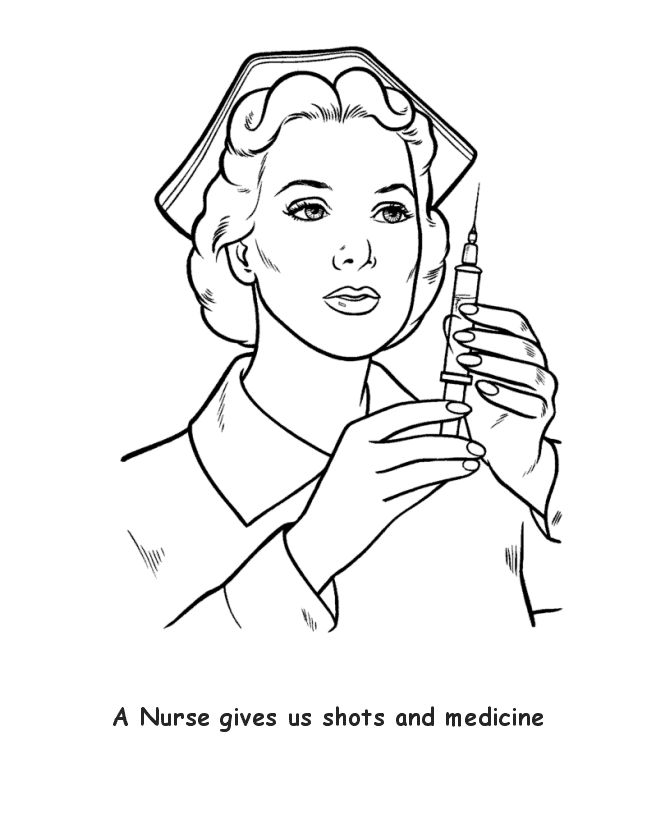 nurse | 23 Nurse Coloring Pages Nurse-coloring-10