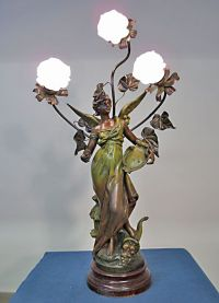 1000+ images about spelter lamps on Pinterest | Vintage ...