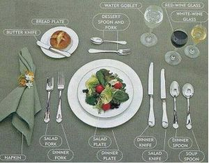 Setting a full course dinner table | Wedding Ideas | Pinterest | Tables, Place settings and