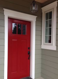 My red door! Caliente Red by Benjamin Moore | Wadi ...