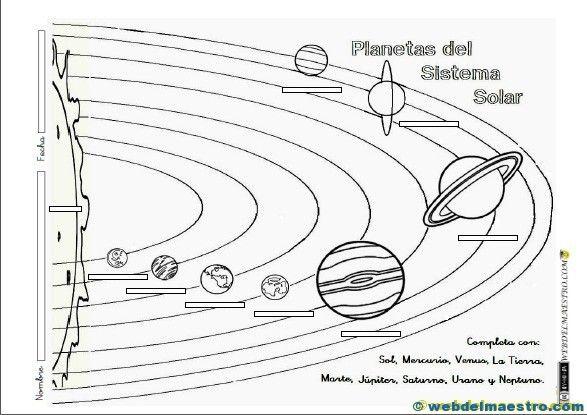 fichas para trabajar el sistema solar con niños de