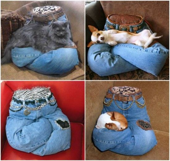 Pet Lap Pillow Is Made From Your Denim Jeans  Pillow beds Pets and Dogs