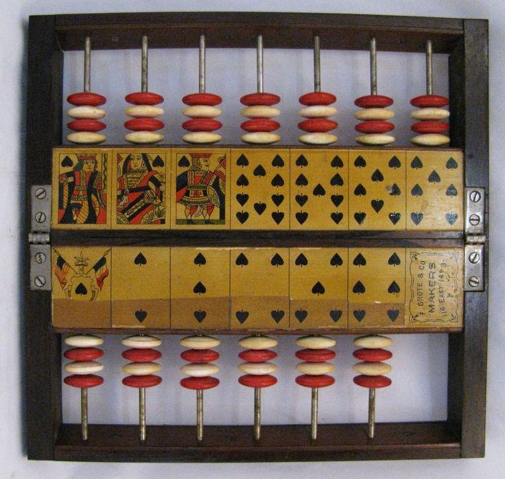 Antique pharo or faro gambling score keeper faro