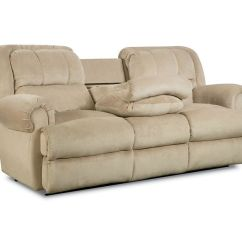 Double Reclining Sofa With Fold Down Table Modern Sofas On Clearance Evans Fold-down Tray ...
