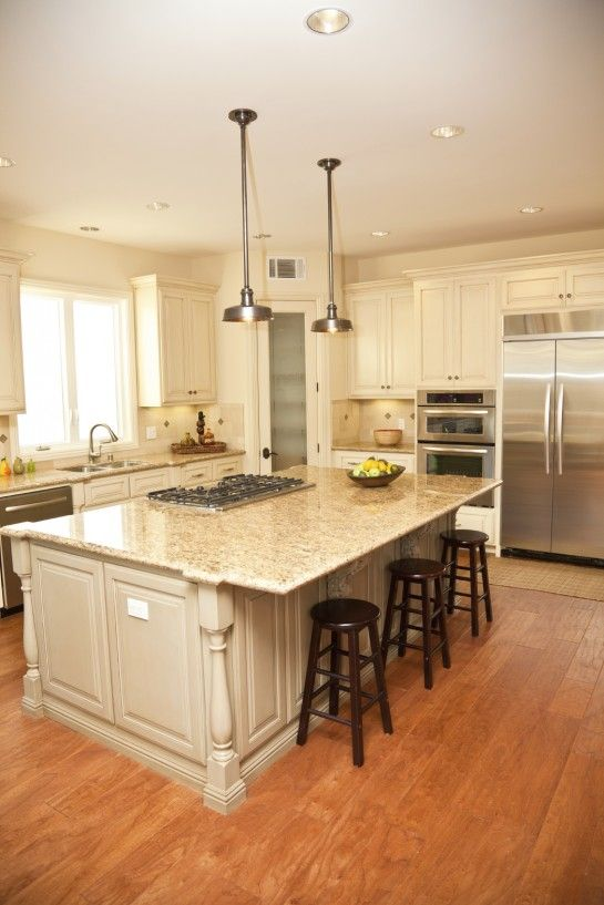 kitchen island with gas cooktop  Google Search  House
