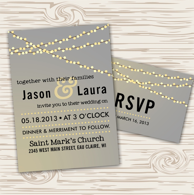 17 Images About Fairy Lights Wedding Invitations On