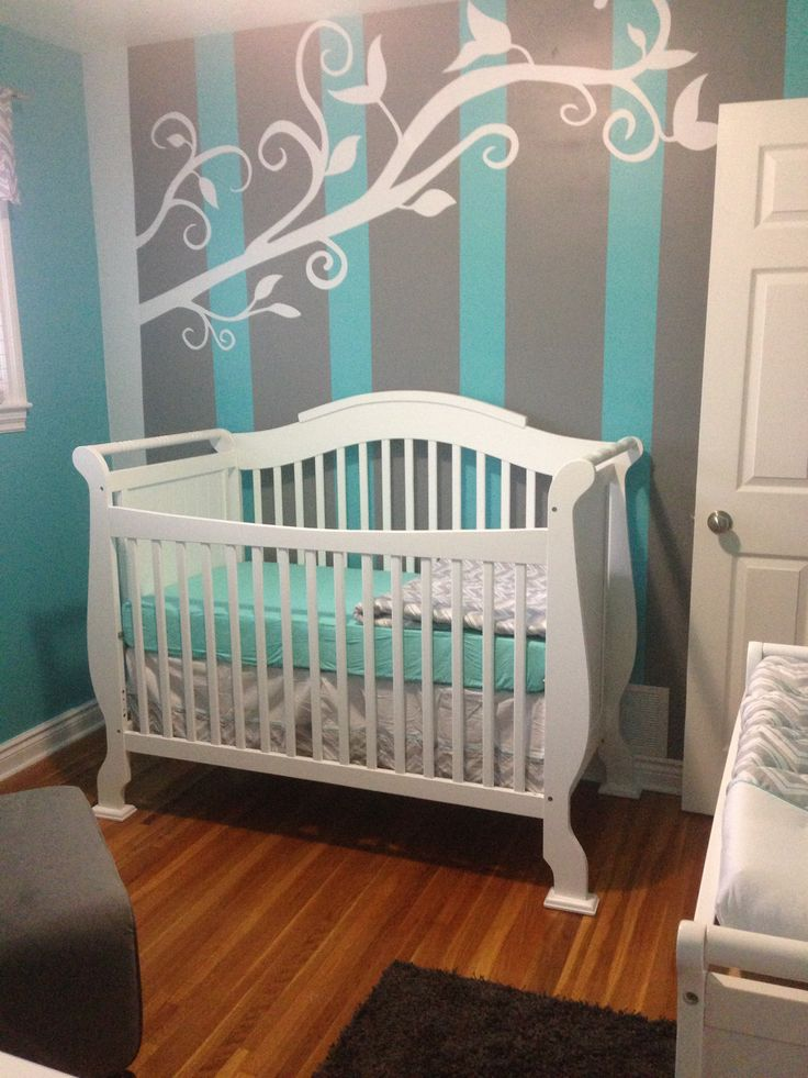 Baby Vs nursery Turquoise and Grey  For the Home