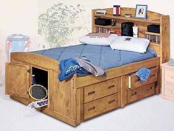 Captains Bed Bookcase Headboard And Bookcases On Pinterest