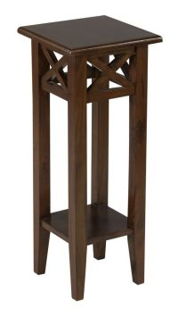 """30"""" Tall Medium Brown Pedestal Accent, Country Style Small ..."""
