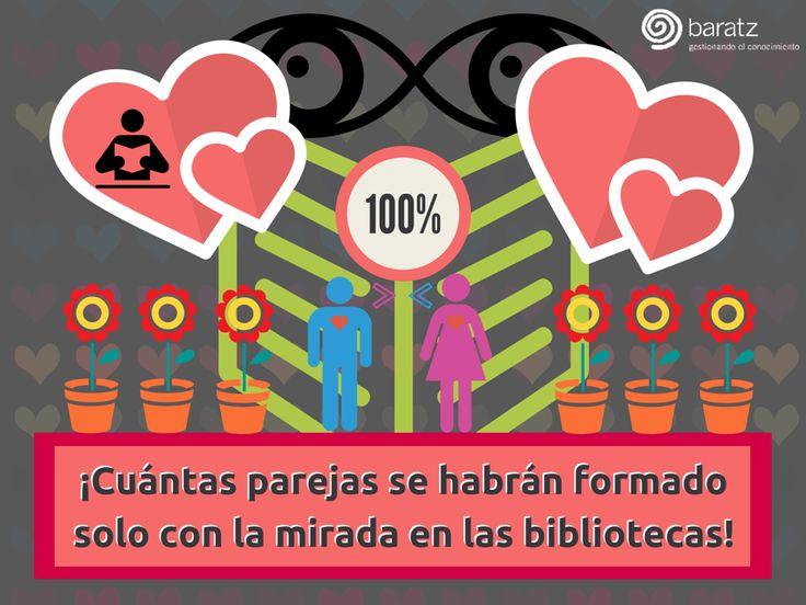¡Cuántas parejas se habrán formado solo con la mirada en las bibliotecas!