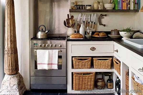 open rustic kitchen cabinets open base cabinets with baskets | kitchen dreaming