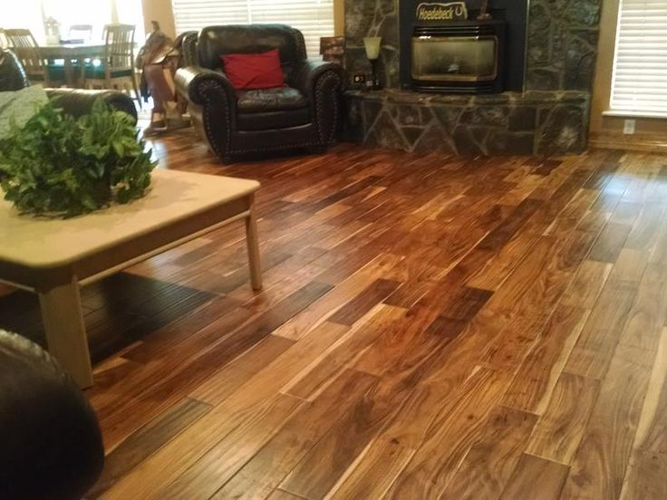 Before and After  Lumber Liquidators Tobacco Road Acacia Easy Click Engineered 716 x 4 34