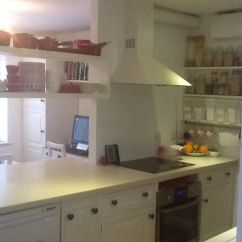 How To Replace Kitchen Countertops White Washed Table Through Dining Room Serving Hatch With Open ...