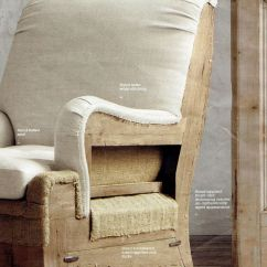 Burlap Sofa Chair Bright House Sofas Uk Deconstructed Upholstery- Restoration Hardware ...