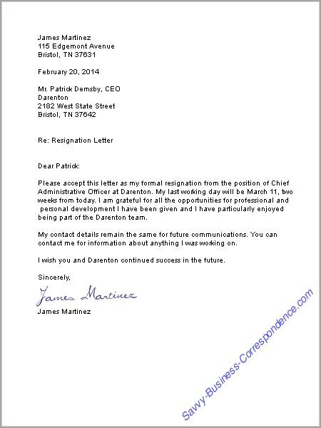 Resignation Letter Examples Nz   Recommendation Letter ...