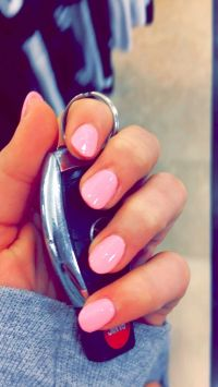 25+ best ideas about Short pink nails on Pinterest
