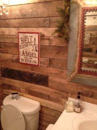 Rustic wood backsplash | Master Bath Remodel | Pinterest ...
