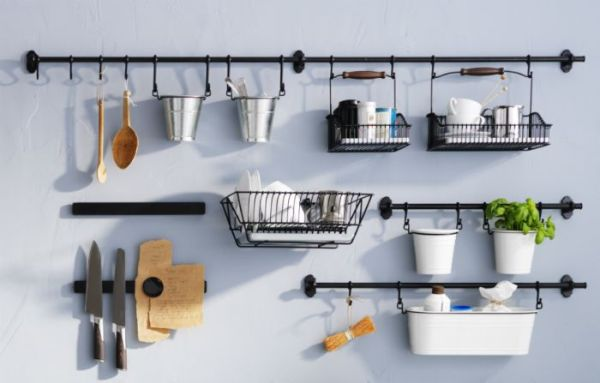ikea kitchen hanging storage FINTORP kitchen accessories can organize in style and free