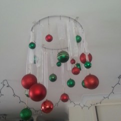 Greenery Above Kitchen Cabinets Painting Ideas Hanging Baubles On A Wire Ring | Christmas Pinterest ...