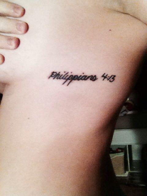 Philippians 4 13 Tattoo Designs