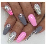 Baby Pink And Grey by MargaritasNailz from Nail Art ...