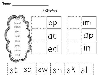 Cut and Paste Consonant Blends This packet contains 3