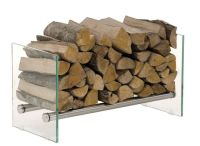 Firewood Rack GAVIN 75 Stainless Steel Log Basket Stand