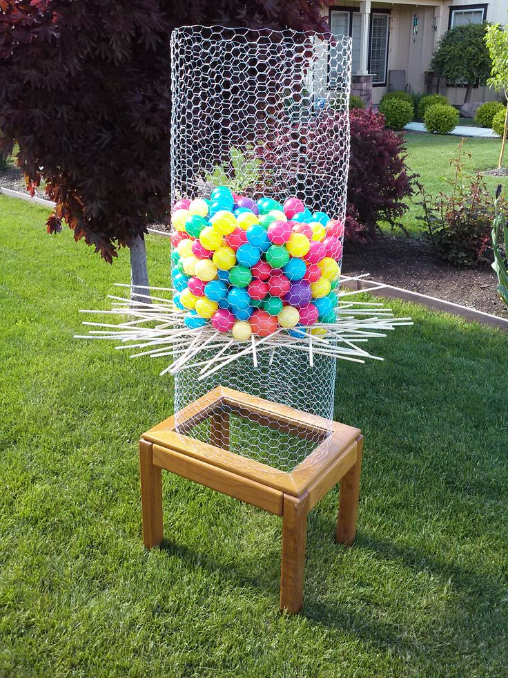 Backyard Ker Plunk I Made This DIY Ker Plunk Game By