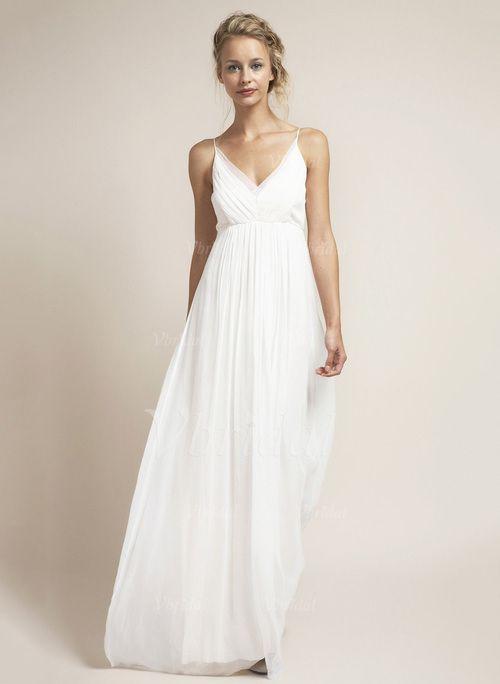 Die besten 17 Ideen zu Hochzeitskleid Strand auf Pinterest  Kleid wei spitze Spitzenchiffon