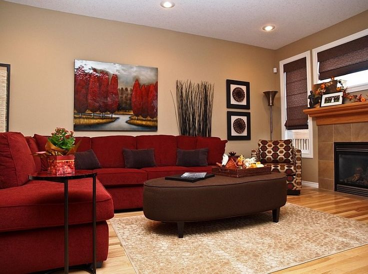 Red Living Rooms Design Ideas Decorations Photos Living Room