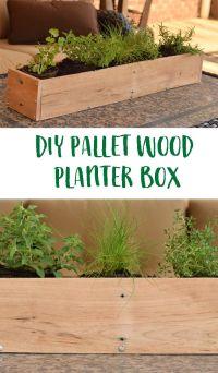Best 25+ Pallet planter box ideas on Pinterest   Single ...