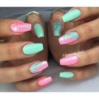 25+ best ideas about Bright acrylic nails on Pinterest ...