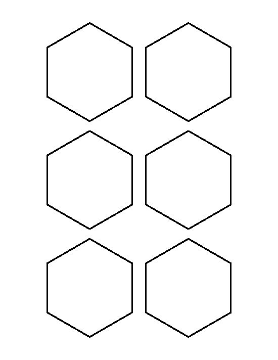 3 inch hexagon pattern. Use the printable outline for