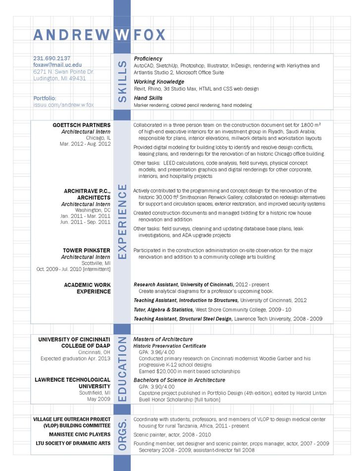 Architectural design resume samples | DAD-COSTS.GA