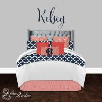 25+ best ideas about Navy and coral bedding on Pinterest ...