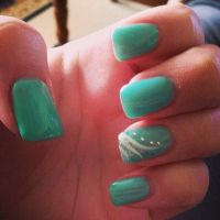 17 Best ideas about Mint Green Nails on Pinterest