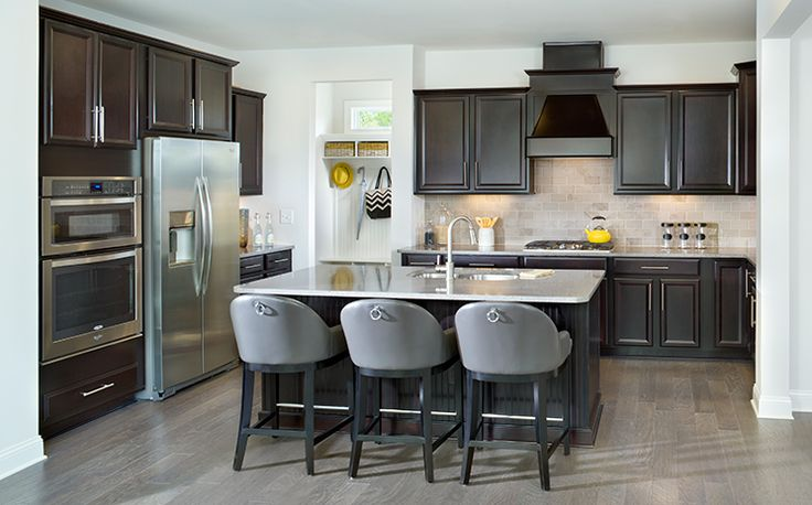 This gourmet kitchen with large walk