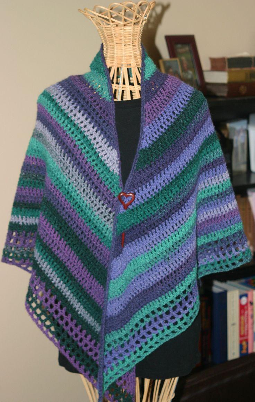 Easy Crochet Shawl By Pia Lindn
