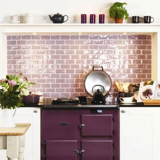 vignette design Purple Inspiration Pinterest Style DIY this lilac glass subway tile