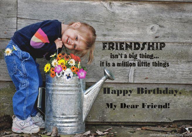 Happy Birthday My Dear Friend Birthday Card Birthday