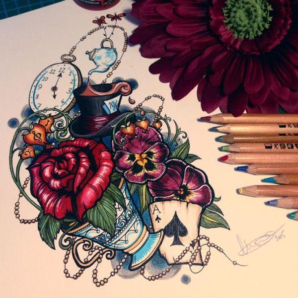 Best 25 Wonderland Tattoo ideas on Pinterest Alice and